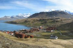 A peaceful day in South Georgia's capital Grytviken