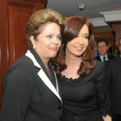 With her Brazilian peer Dilma Rousseff