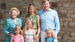 The Dutch royal family enjoying a sunny day