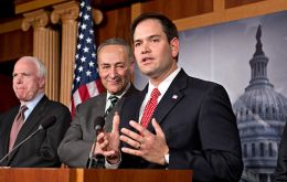 Hispanic Republican, Senator Marco Rubio, warned Obama not to ignore his party's concerns about border security