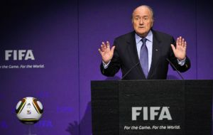 """FIFA alone cannot be the tribunal for 300 million people involved in football"", said Blatter"