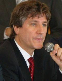 "Vice president Amado Boudou described the advance of resources as ""heterodox and moderate"""