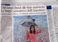 The page of the Corriere Della Sera dedicated to Cristina Fernandez