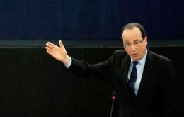 """Europe is leaving the Euro vulnerable to irrational movements"" President Hollande told the European parliament in Strasbourg"