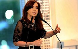The Argentine Justice will not be obstructed; we are not giving up our sovereignty, said President Cristina Fernandez (Pic TELAM)