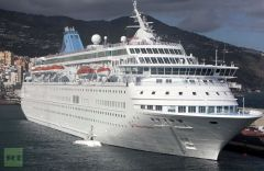 Thomsom Majesty docked at Santa Cruz in the Canary Islands