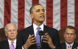 The President addressing Congress with his State of the Union speech