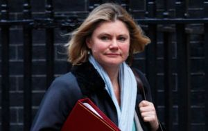 """Policy remains in review"" said Justine Greening, UK International Development Secretary (Photo: Getty Images)"