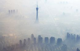 The non breathable air of Beijing reached nearly 35 times what the World Health Organization considers safe