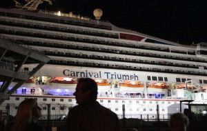 The Carnival Triumph is the largest ship ever to dock at Mobile (Photo AFP)