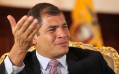 .The Ecuadorean president also expects a clear majority for his Alianza Pais in Congress