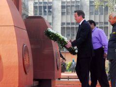 """We must never forget what happened here"" said PM Cameron during his visit to Jallianwala Bagh garden"