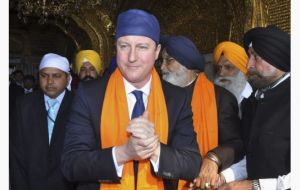 The Prime Minister during his visit to the Golden Temple