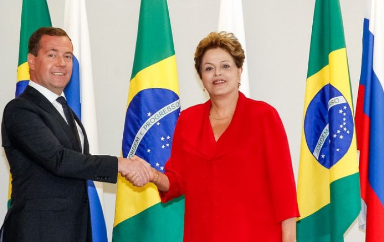 PM Dmitry Medvedev and President Dilma Rousseff underline the significance of the agreements reached