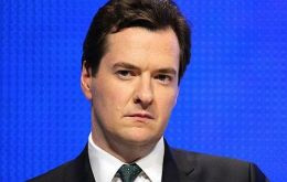 "UK finance minister George Osborne said the downgrade ""doubles"" the government resolve to the challenge"