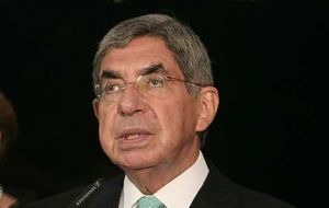 Nobel Peace Prize and former Costa Rica president Oscar Arias arrives this weekend in Asuncion