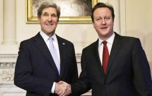 PM Cameron became the first foreign leader to be visited by newly appointed Secretary of State