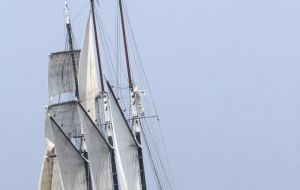 Oosterschelde, the three-mast topsail schooner is the largest restored Dutch sailing ship