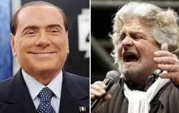 Berlusconi and Grillo campaigning against austerity managed 55% of the vote