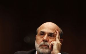 US markets reacted positively to Bernanke defence of the Fed's bond-buying stimulus before Congress