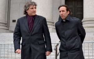 Argentine Vice-president Boudou and Economy minister Hernan Lorenzino at New York