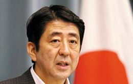 "PM Abe: Senkakus islands are an inviolable part of Japanese territory and no dispute exists, but door to dialogue with China ""is always open""."