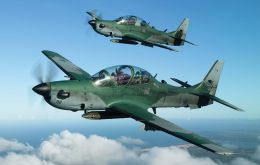 The propeller driven AT-29 Super Tucano will be built jointly with a US company