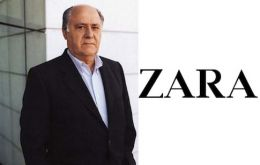 Amancio Ortega, owner of Zara fashion chain figures in third place with 57bn dollars