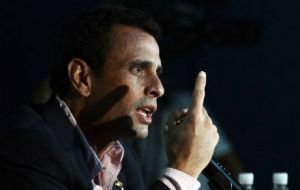 "Capriles: ""Nicolas, to be president, the people have to elect you,"" . ""The constitution is very clear."""