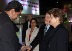 Rousseff and Lula da Silva limited their time in Caracas and missed the official ceremony on Friday