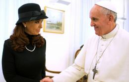 Francis and Cristina shake hands, bad memories forgotten, a new beginning