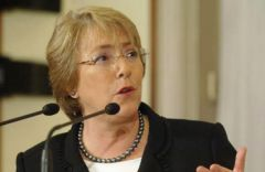 She was the first woman president of Chile and left office with exceptional support