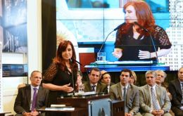 Cristina Fernandez: no mention of the words inflation or dollar