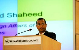 Special rapporteur on the situation in Iran, Ahmed Shaheed was given another year to carry out his work