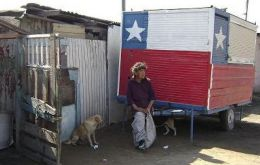 According to official stats 15% of the Chilean population live below the poverty line