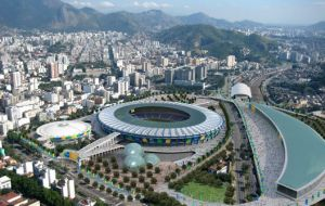 The Joao Havelange stadium in Rio was built only six years ago but has structural problems with the roof
