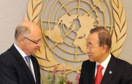 The Argentine Foreign minister with Ban Ki-Moon