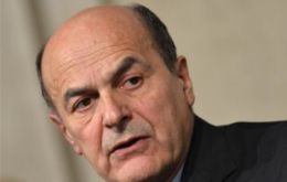Mr Bersani's Democratic Party narrowly won the elections last month