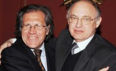 Minister Almagro and his 'brother' Hector Timerman