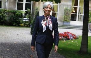 Ms Lagarde apartment was searched by French police in a case involving businessman Tapie