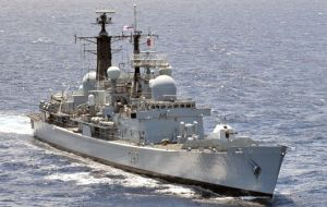 HMS Edinburgh the last of the Type 42 destroyers of the Royal Navy