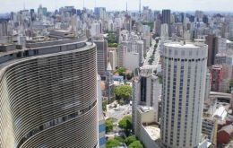 New buildings cover the 'cement' horizon of Sao Paulo