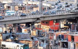 Slums inside and surrounding cities were poverty is concentrated according to the Argentine Catholic University Social Observatory
