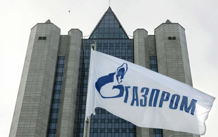 Gazprom's headquarters in Moscow, one of the world's leading gas production companies