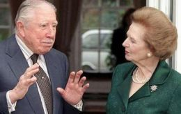 The Baroness with close friend and provider of great support during the Falklands' war