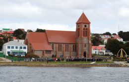 The ceremony will be held at Christ Church Cathedral in the afternoon to allow Islanders to follow the funeral service in London (Pic P. Smith)