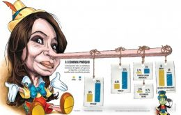 The child fiction marionette whose nose kept growing for not saying the truth, according to Veja