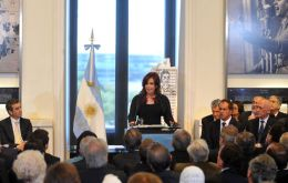 For the sake of peace, said the Argentine president