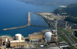 The Angra dos Reis nuclear plant in the state of Rio do Janeiro