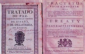 The Peace and Friendship Treaty of 1713 between Spain and England